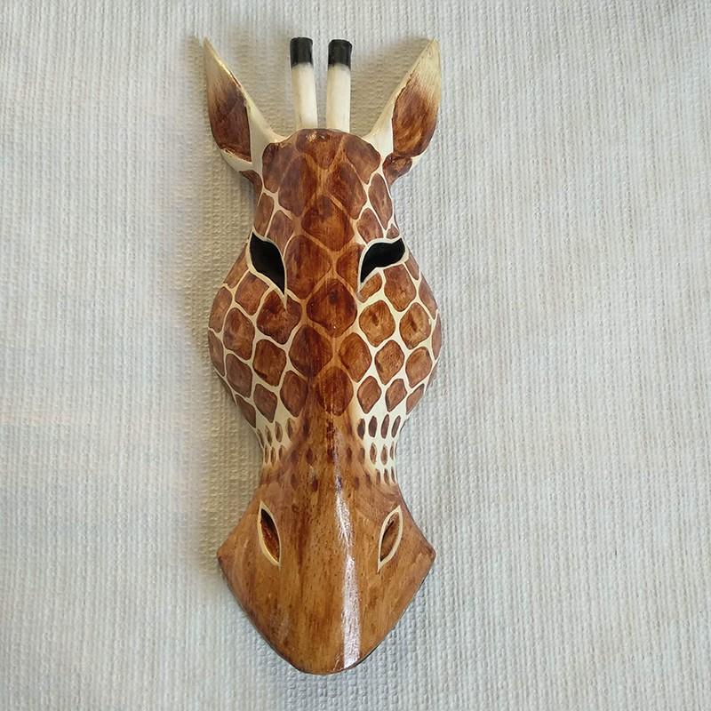 Máscara de jirafa mediana